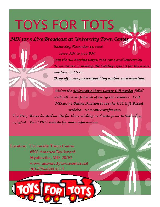 Toys For Tots Pdf : Rp towntalk fw toys for tots at university town center
